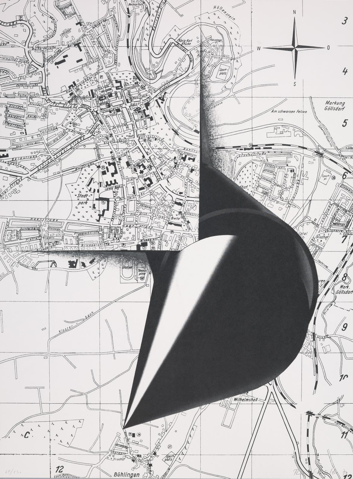 Rune Mields / bez názvu, 1970, ofset, papír