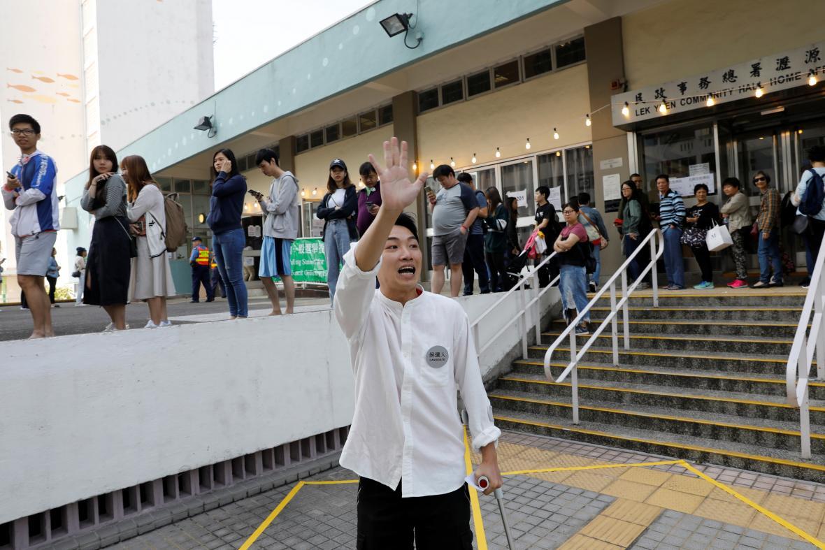 Jeden z vůdců protestního hnutí Jimmy Sham