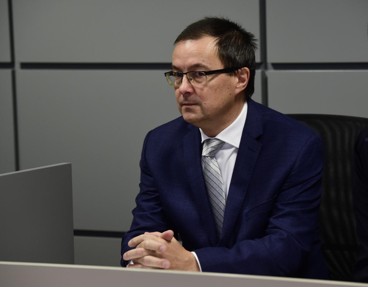Stanislav Kalabus u Krajského soudu v Olomouci (26. 11. 2019)