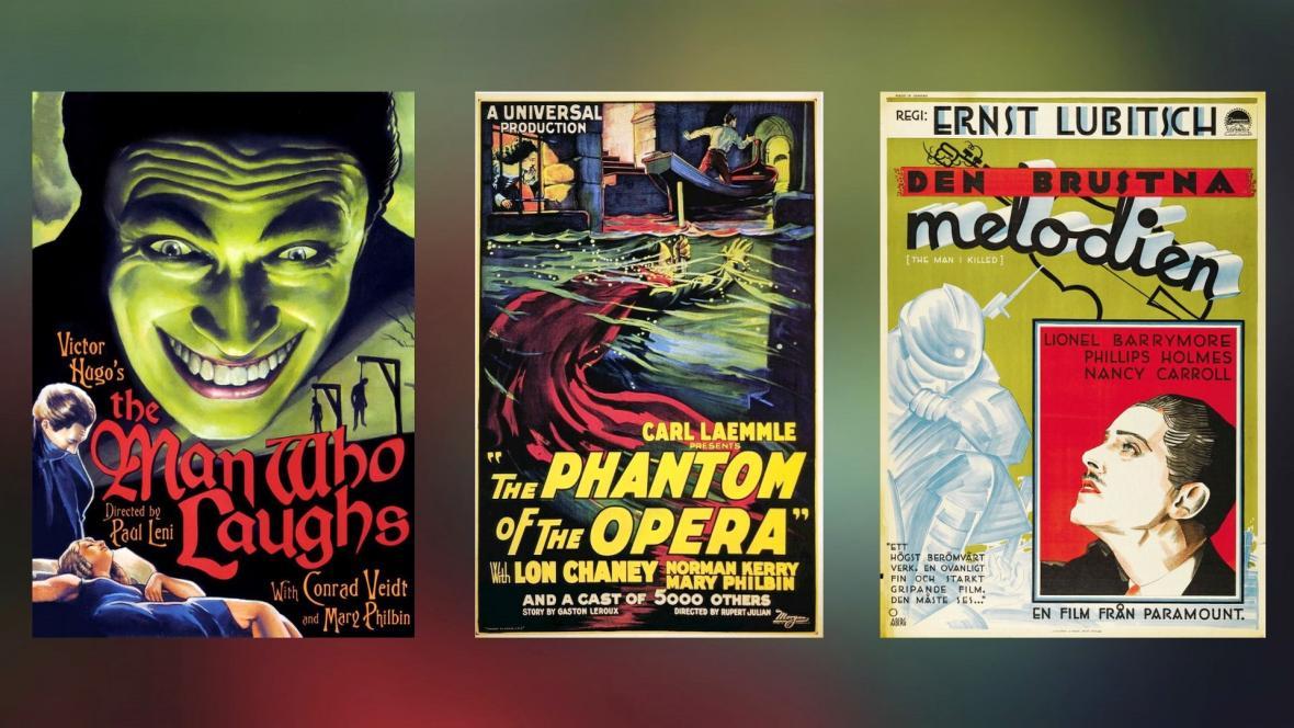 Plakáty hollywoodských filmů, v nichž hrál Antonín Vaverka
