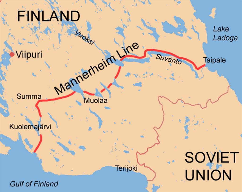 Mannerheimova linie skrz Karelskou šíji