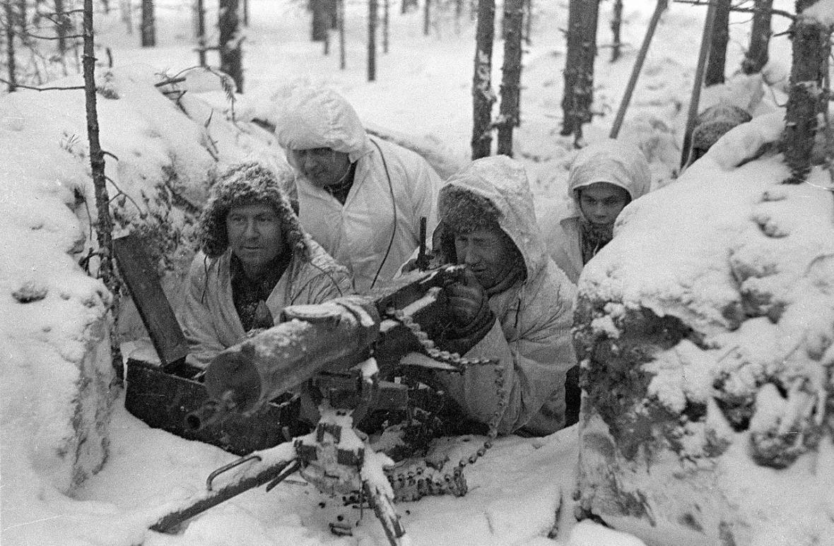 Finští vojáci během zimní války
