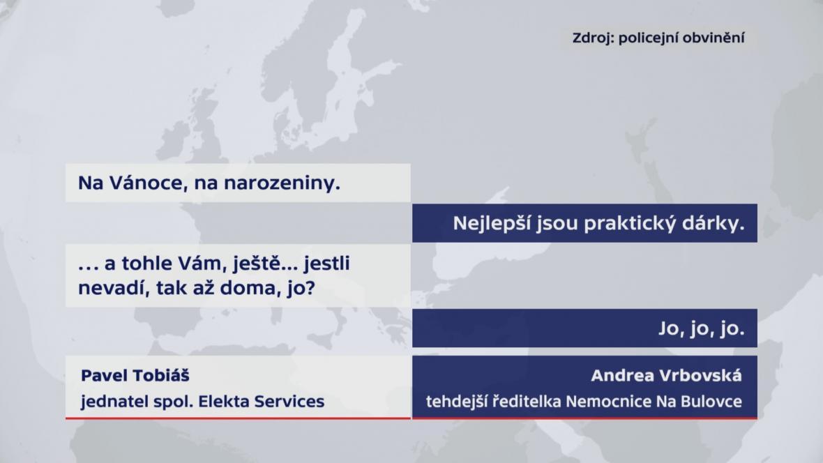 Policie zaznamenala hovor mezi Vrbovskou a Tobiášem