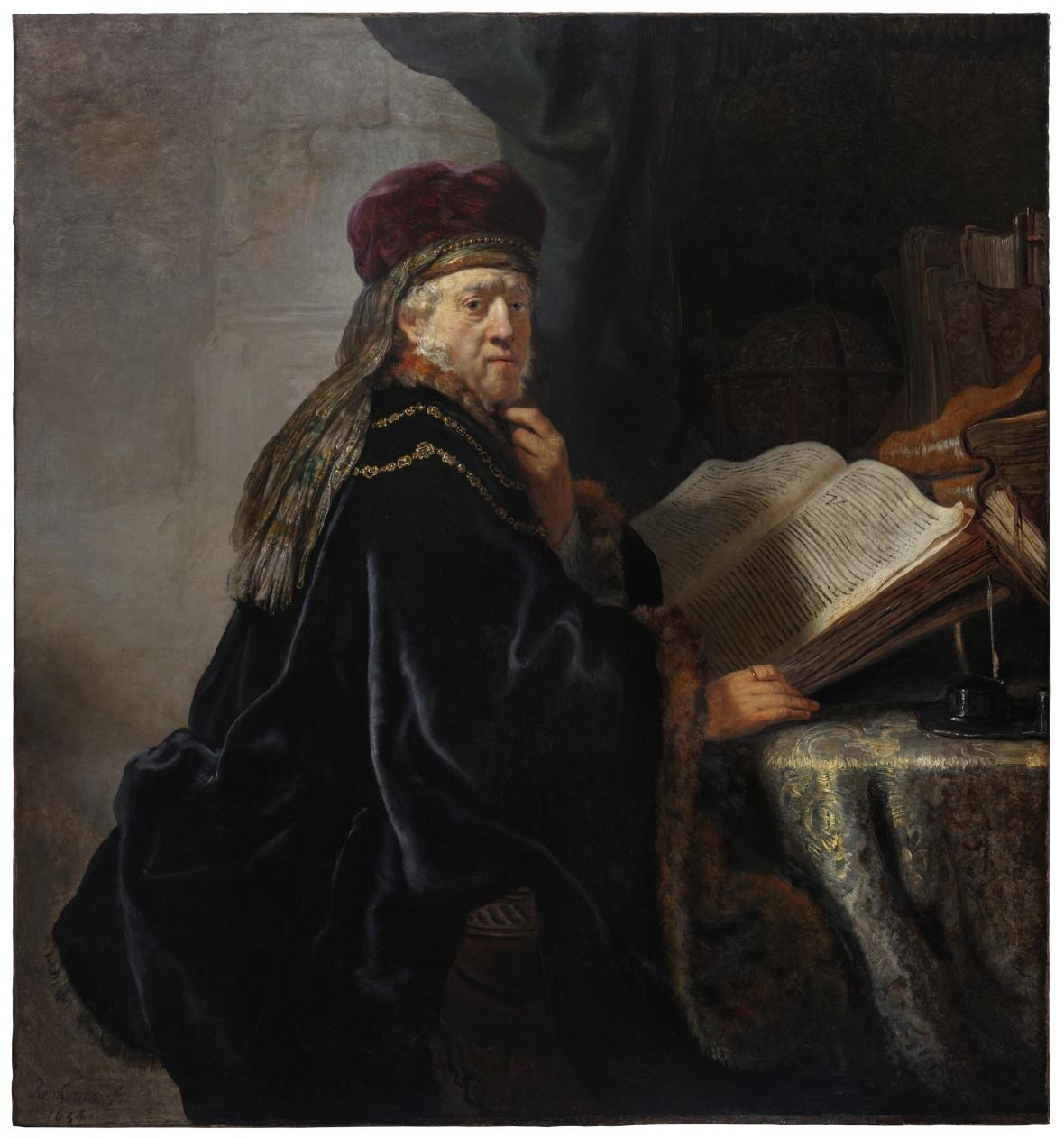 Rembrandt van Rijn / Učenec ve studovně, 1634