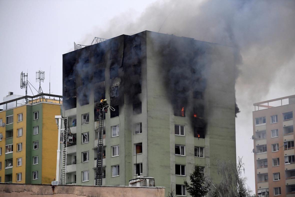 Výbuch plynu v prešovském panelovém domě