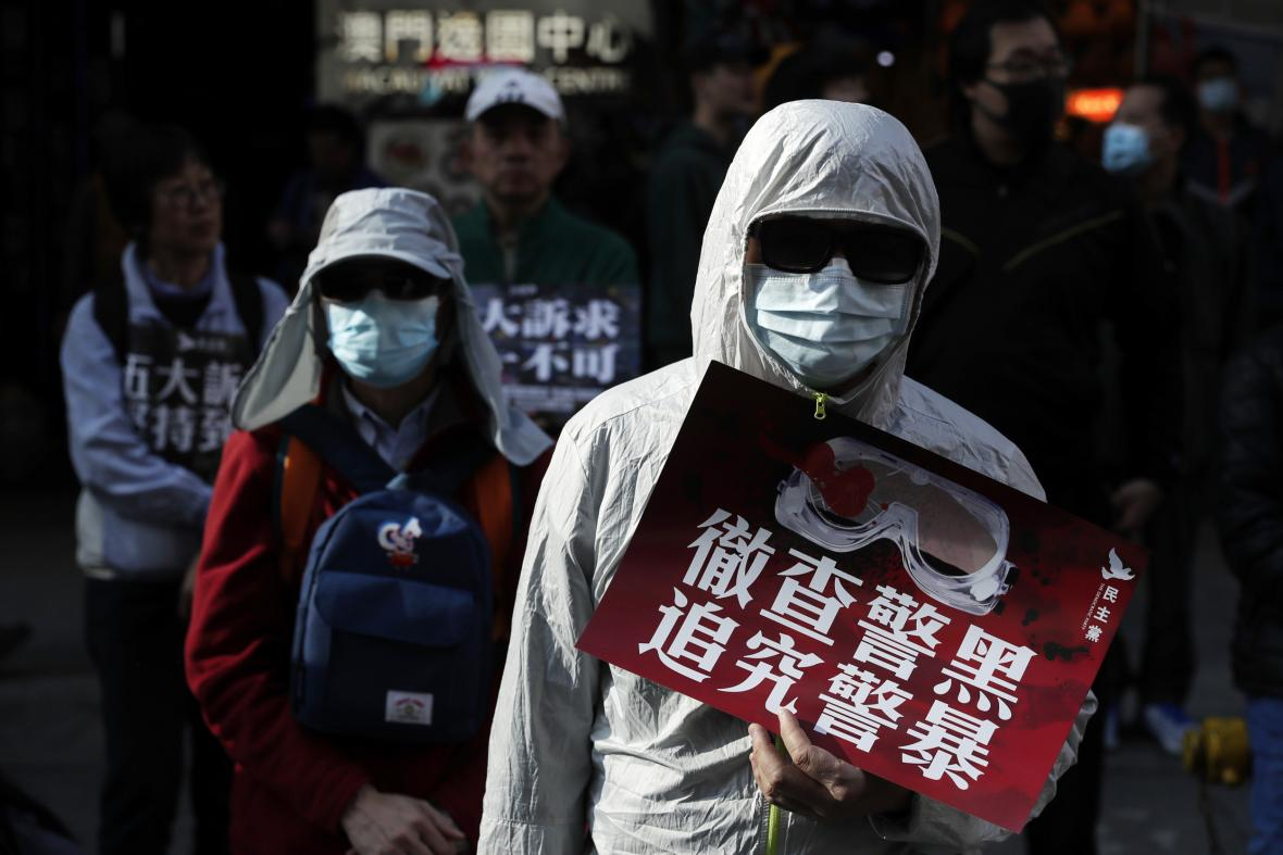 Pochod za lidská práva v Hongkongu
