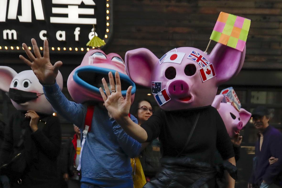 Protestní pochod v Hongkongu