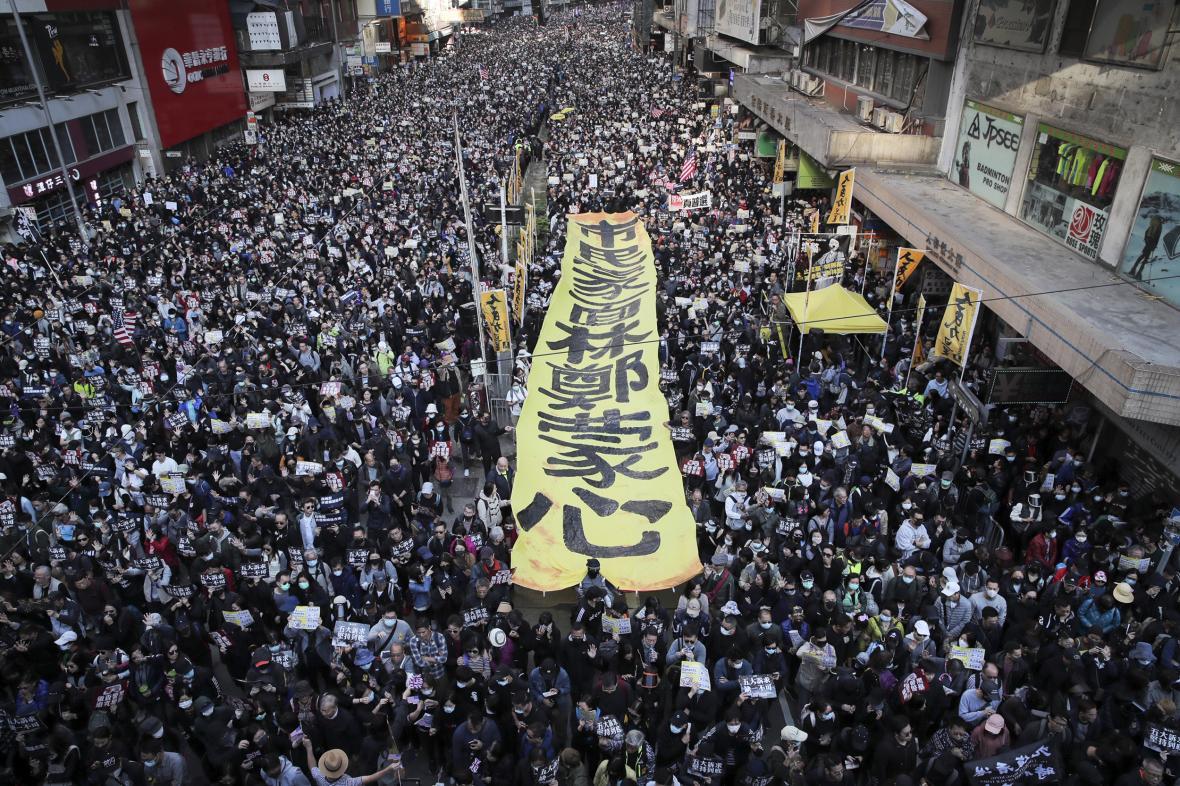 Demonstrace v Hongkongu je tentokrát povolená