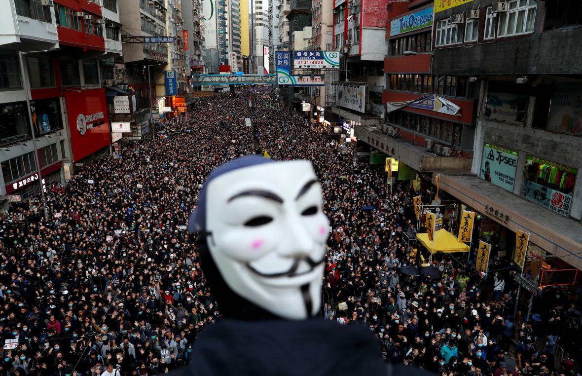 Hongkongský protestní pochod za lidská práva a demokracii