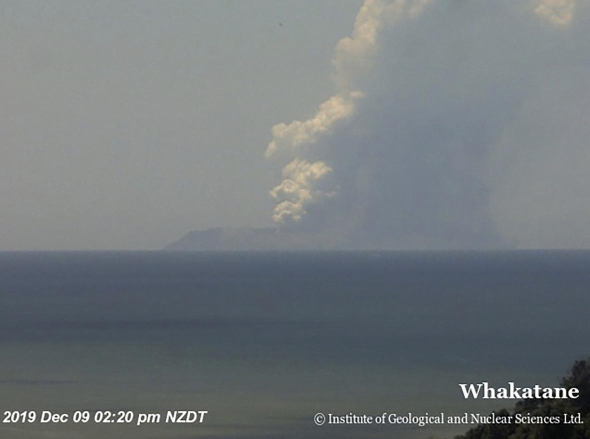 Výbuch sopky na ostrově White Island