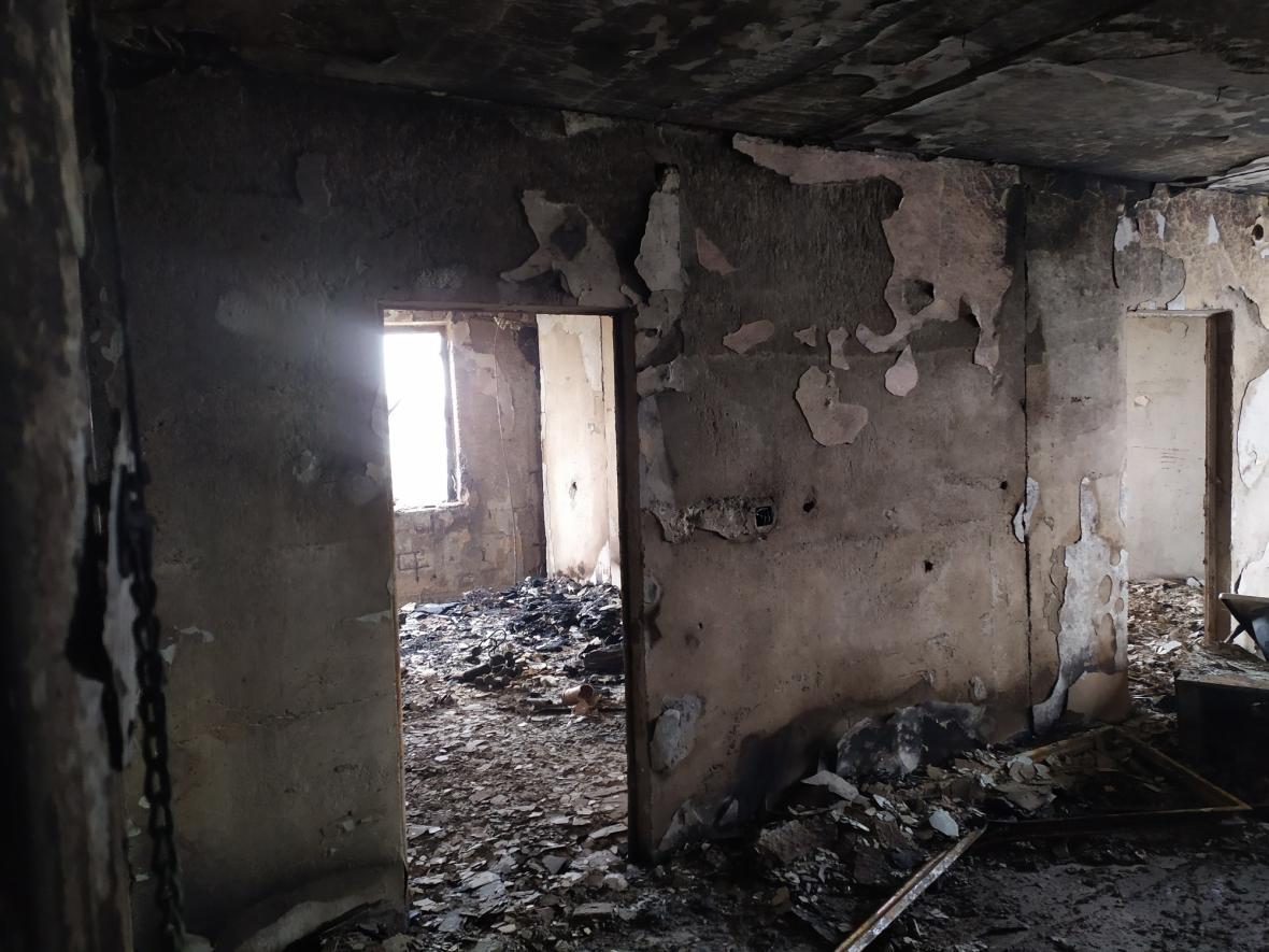 Následky výbuchu v domě v Prešově