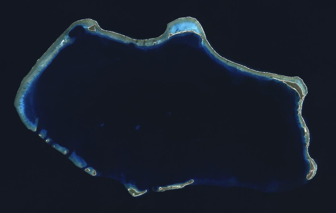 Atol Bikini ze satelitu