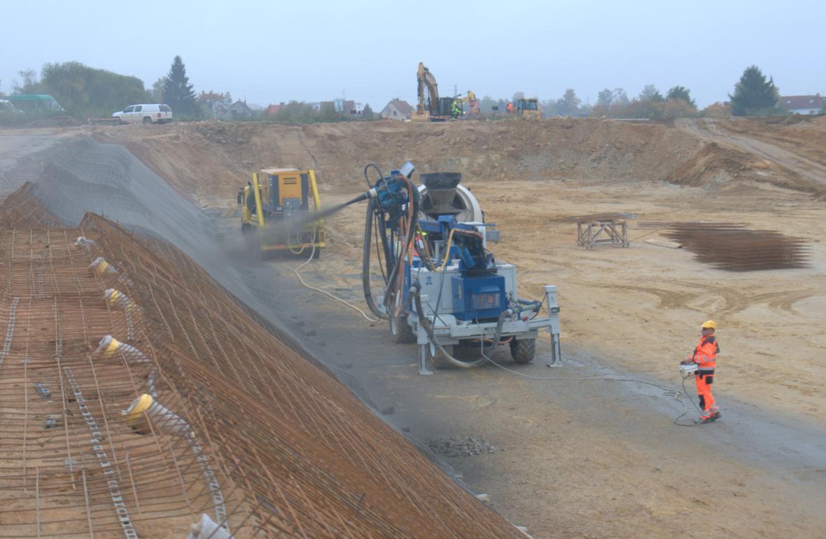 Stavba tunelu Pohůrka