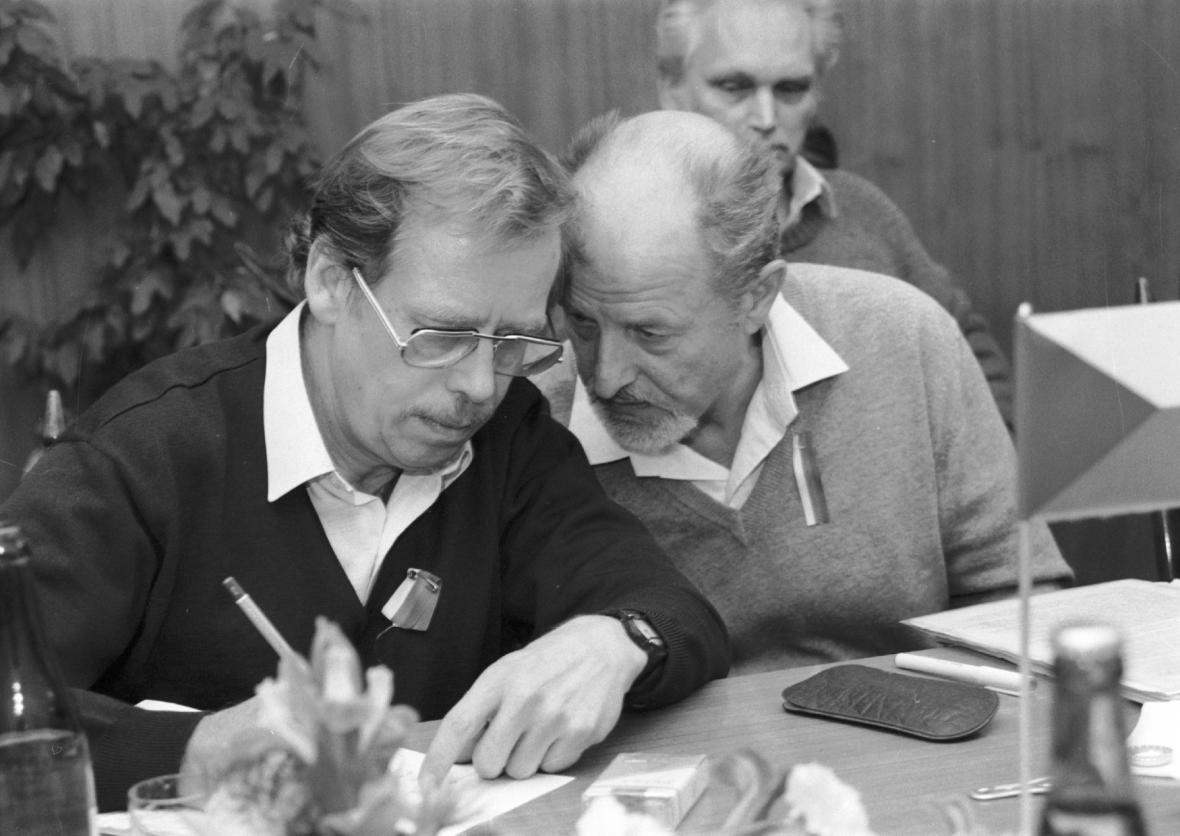 Václav Havel se Zdeňkem Jičínským