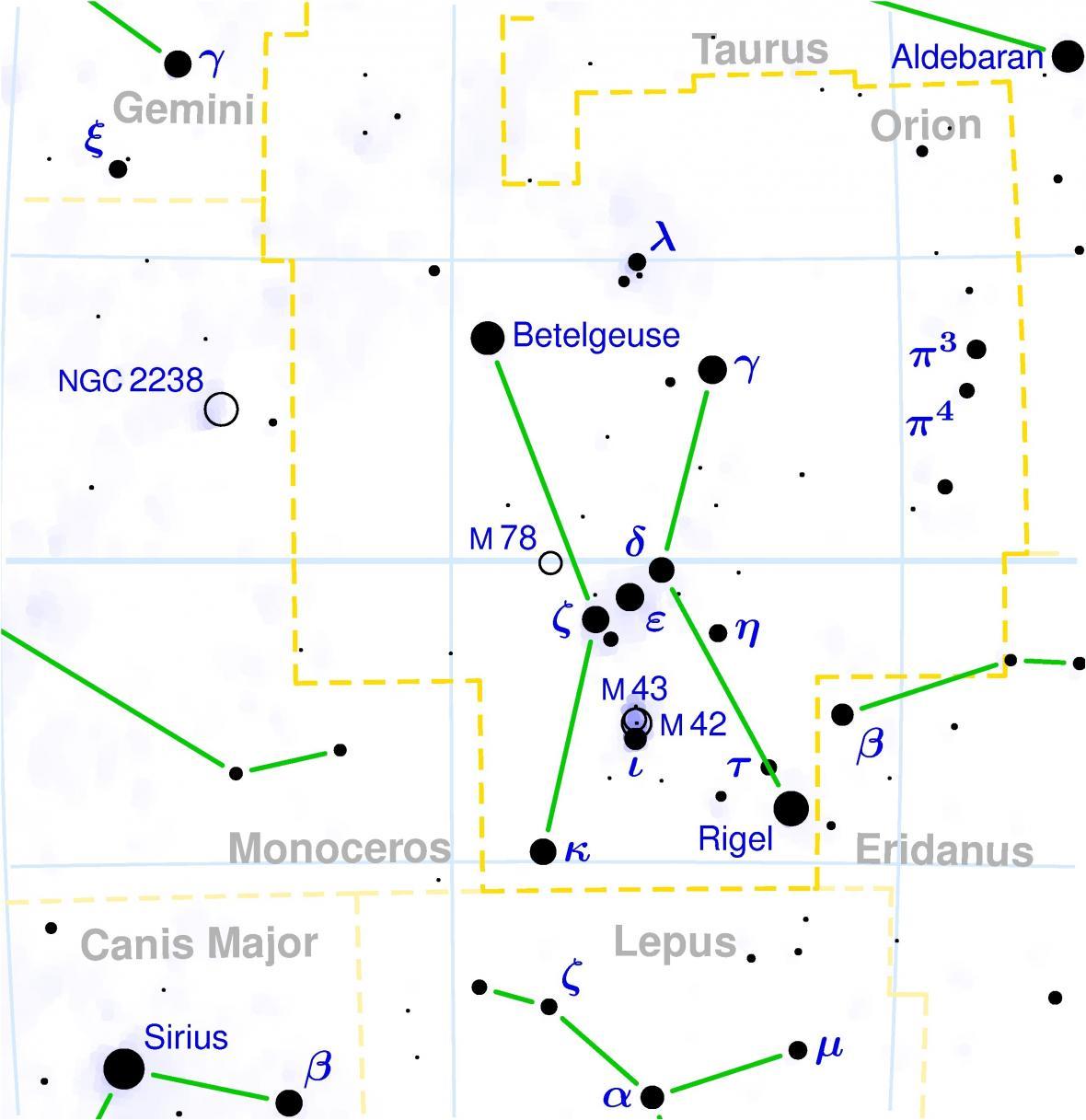 Kde najít Betelgeuse