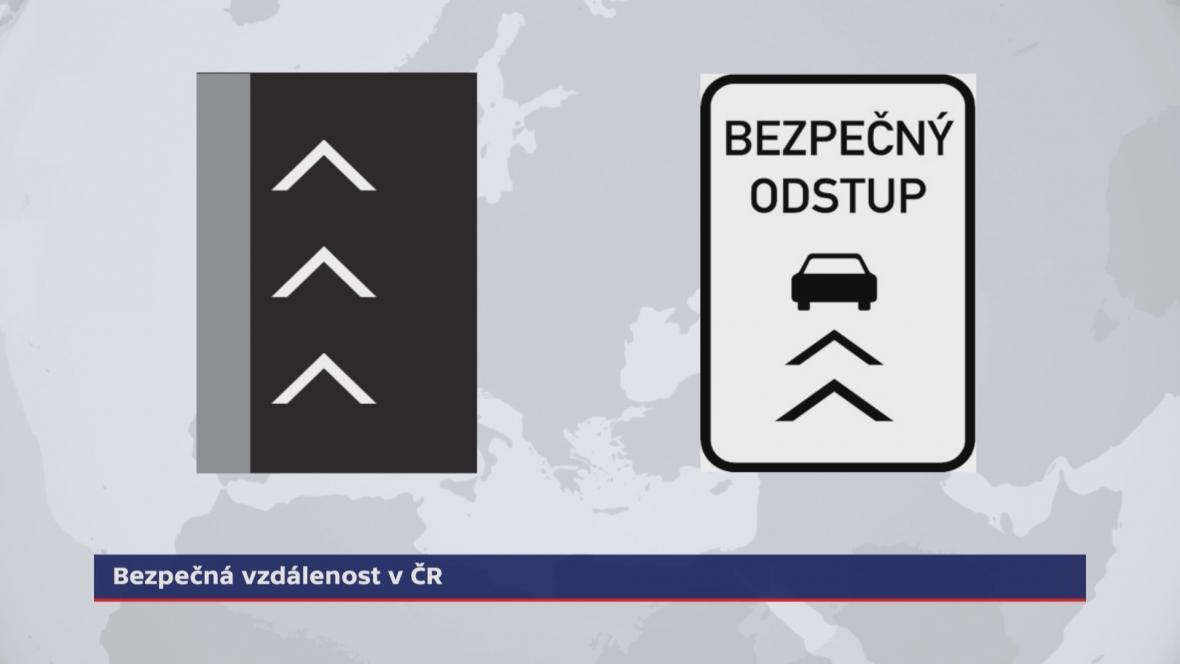 Značky na bezpečný odstup