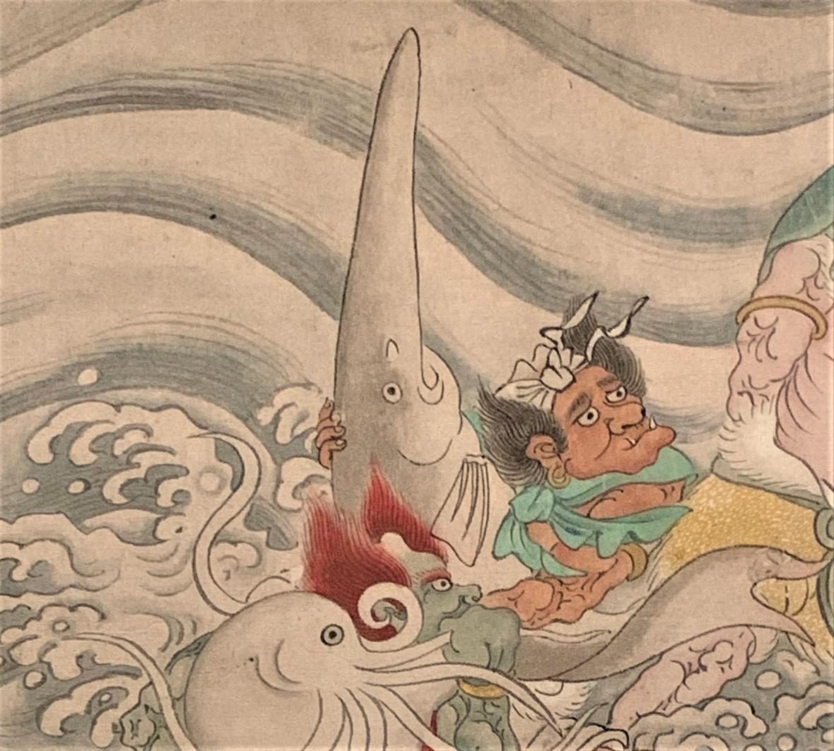 Veslonos čínský na obraze ze 17. století