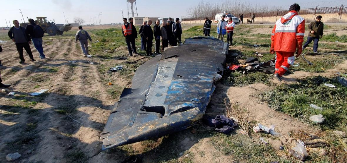 Trosky sestřeleného letu PS752