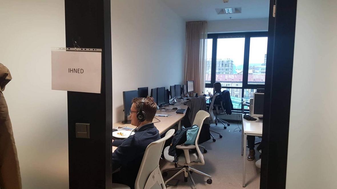 Provizorní prostory vydavatelství Economia
