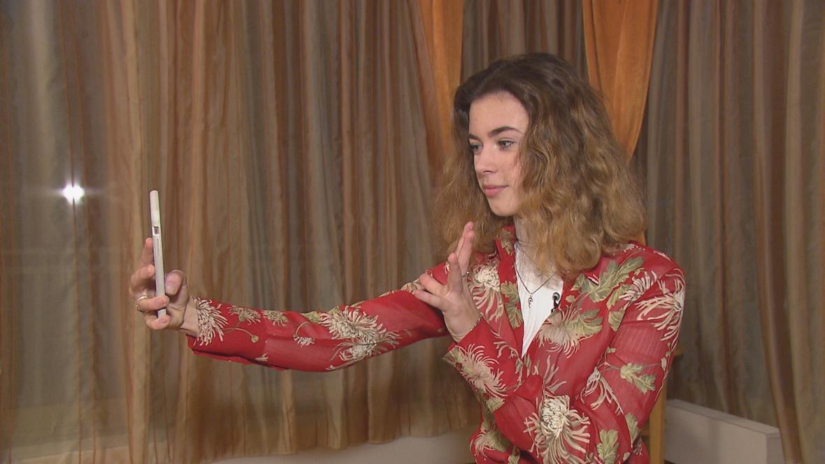 Tiktokerka Anna Dvořáková