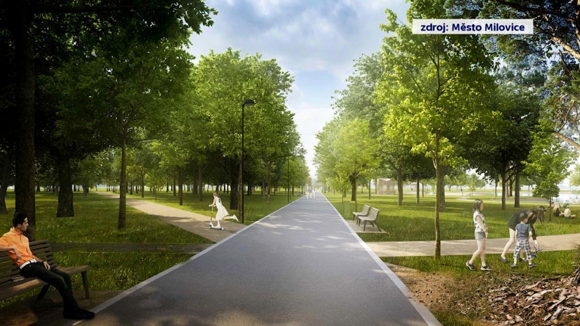 Vizualizace nového areálu v Milovicích