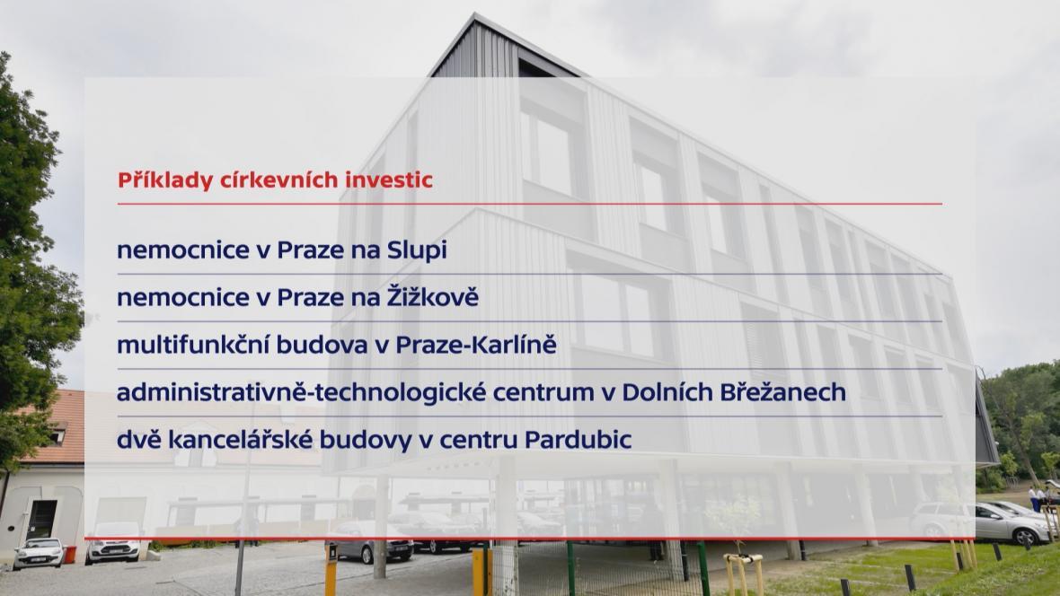 Příklady církevních investic