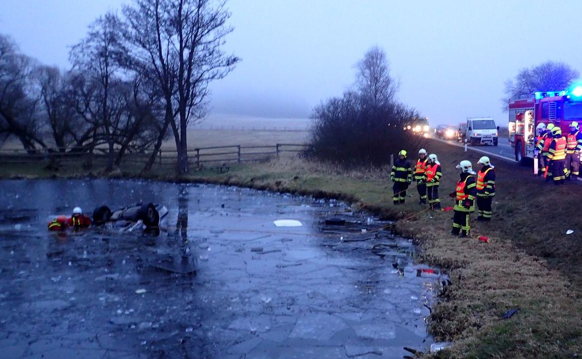 Nehoda u obce Herstošice