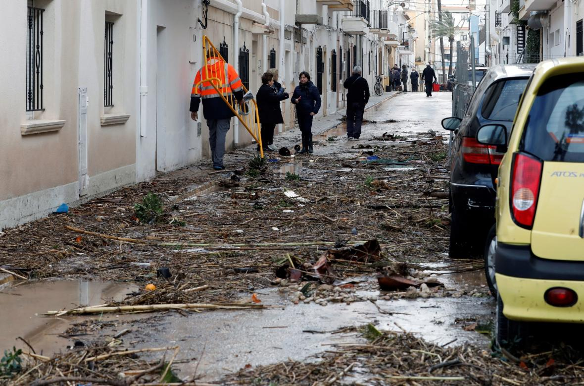 Valencie se potýká s následky bouře Gloria
