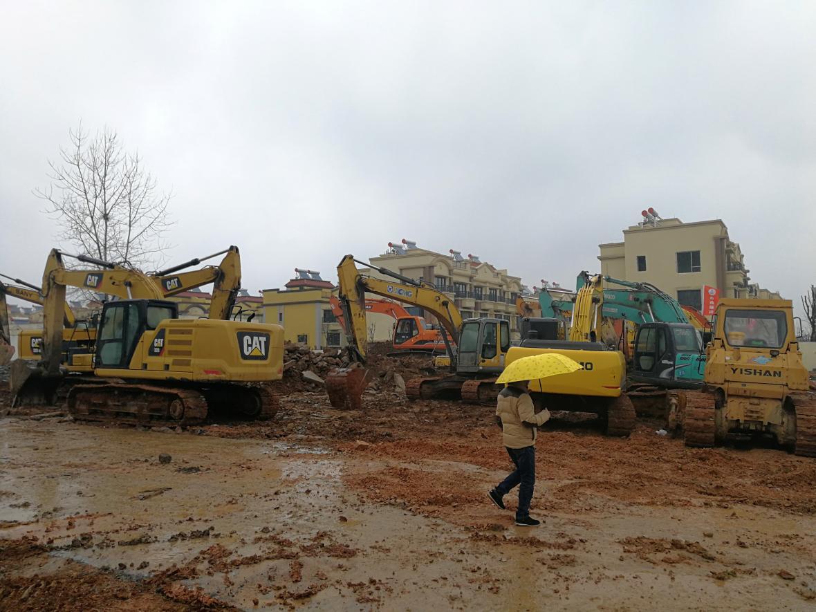 Stavba provizorní nemocnice, Wu-chan