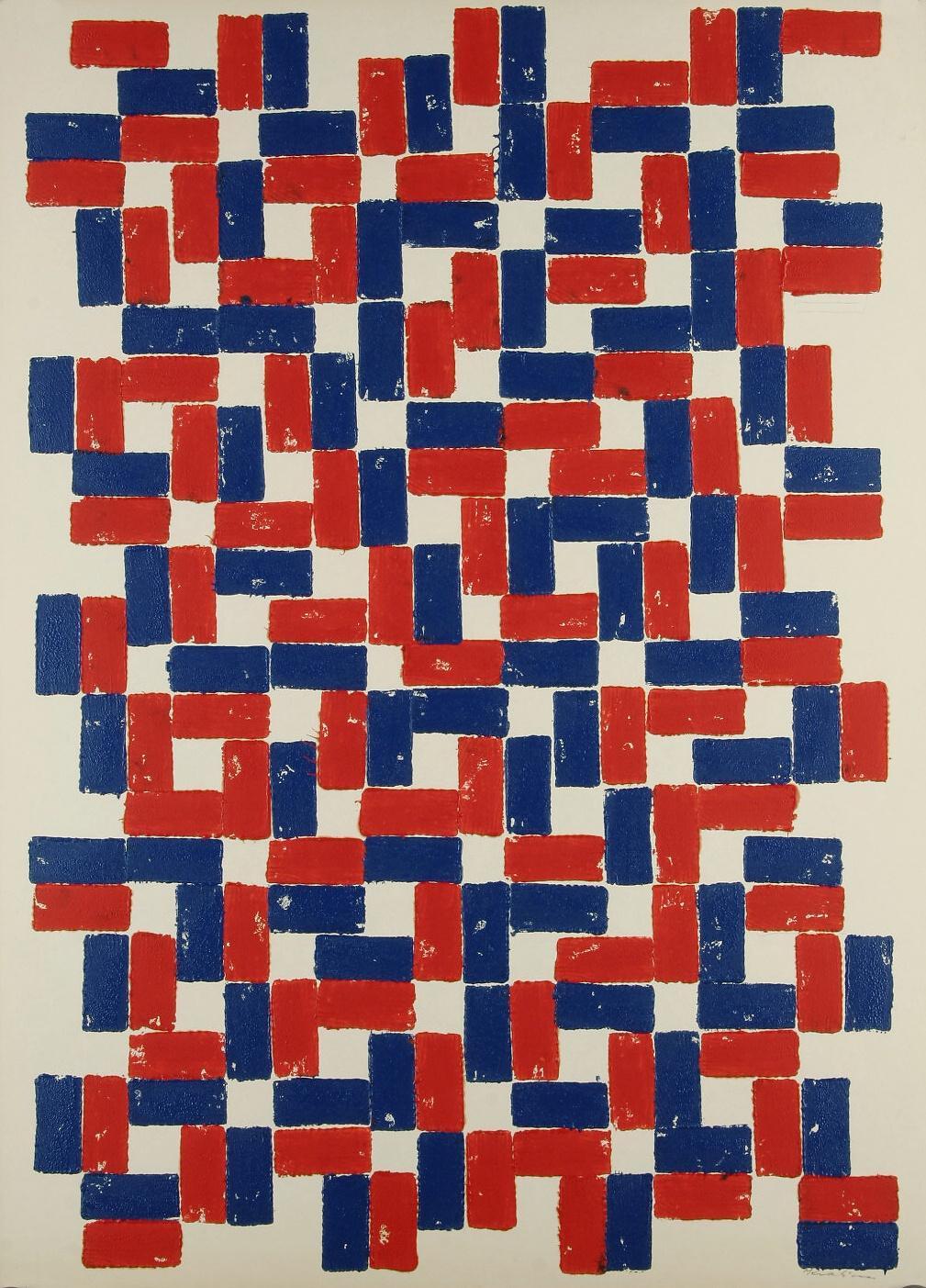 Z výstavy Geometrické struktury / Pocta Zdeňku Sýkorovi