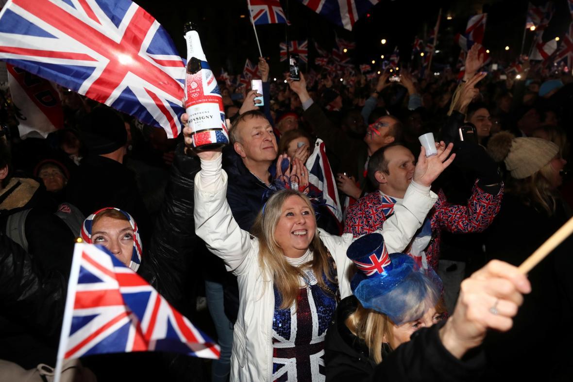 Oslavy brexitu v Londýně