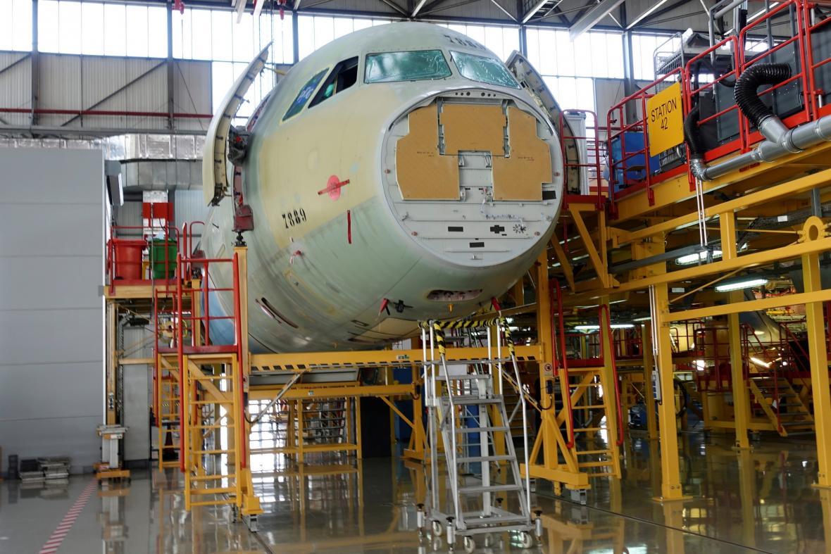 Továrna společnosti Airbus v čínském Tchien-ťinu
