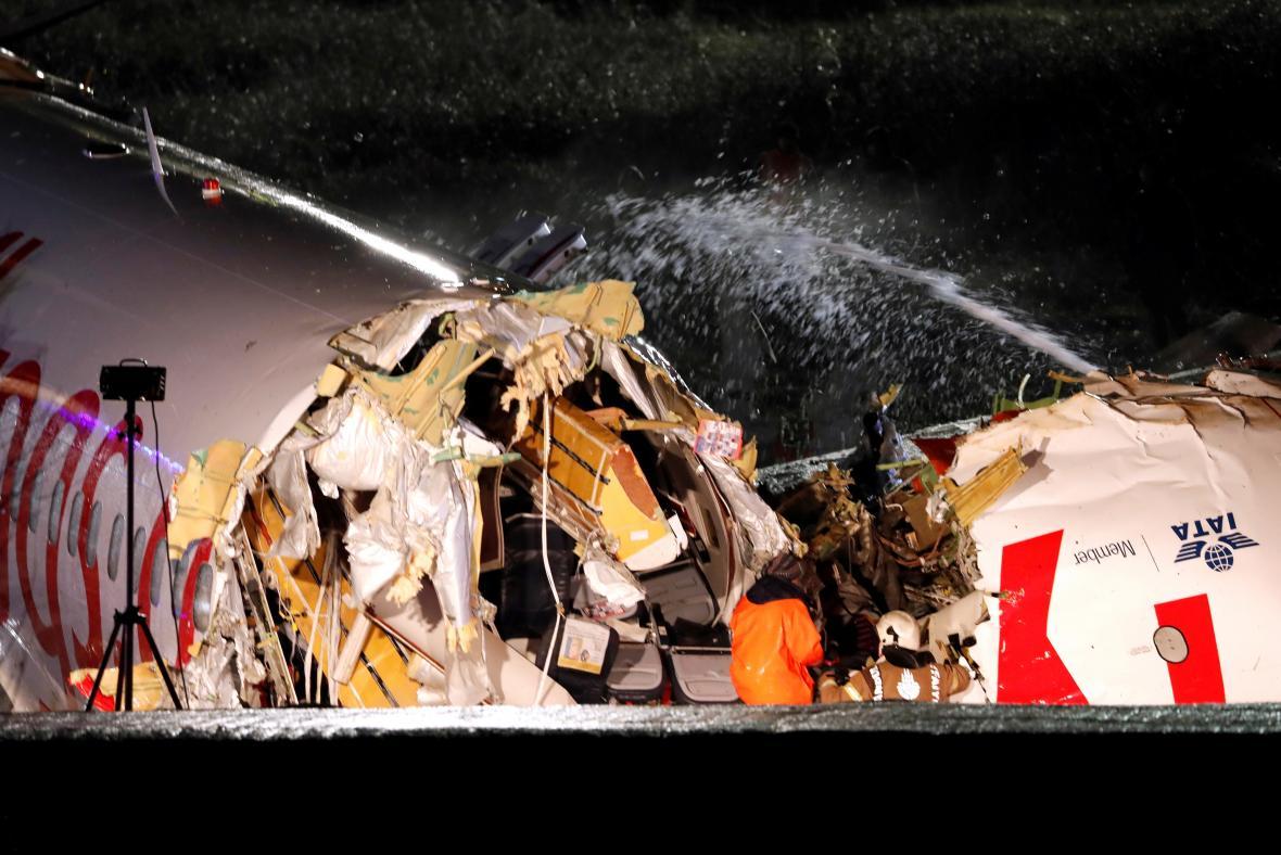 Nehoda letadla v Istanbulu