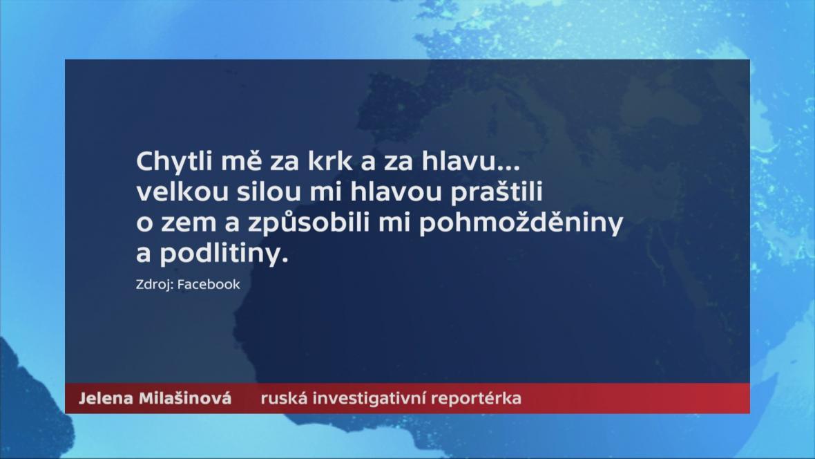 Popis události na facebookovém profilu Jeleny Milašinové
