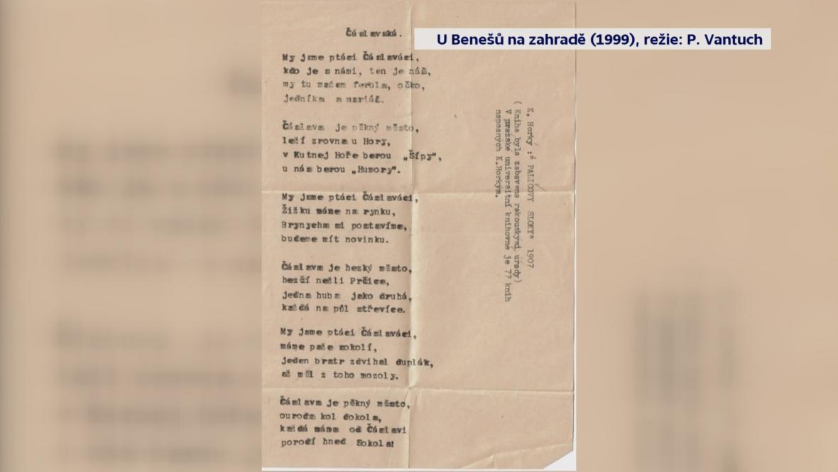 Báseň z peněženky brigádního generála Františka Moravce
