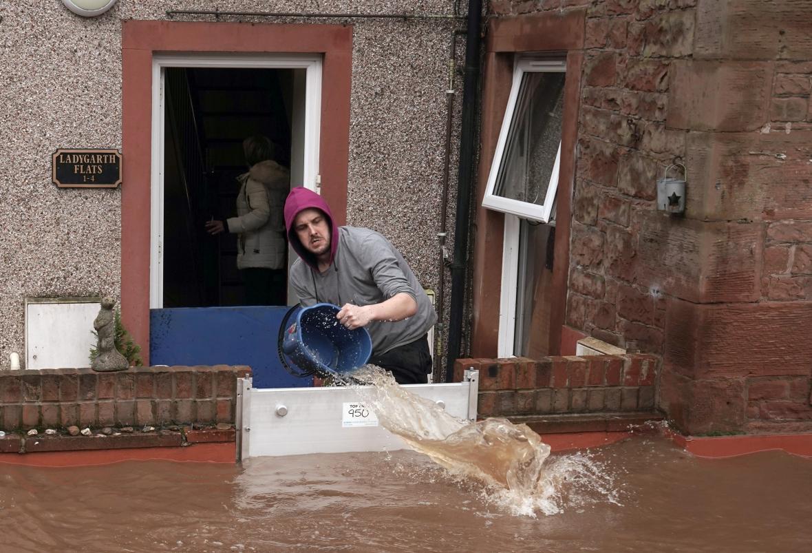 Záplavy v Appleby-in-Westmorland v anglickém hrabství Cumbria