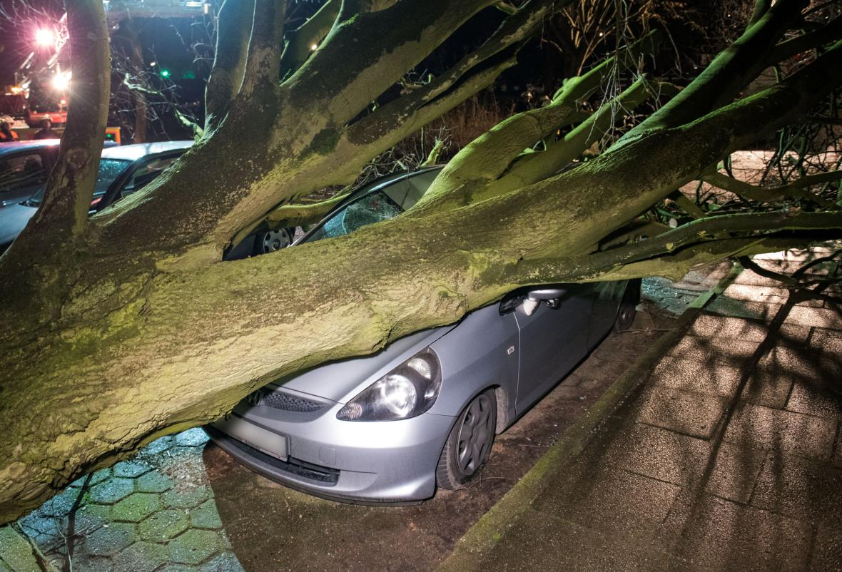Bouře Sabine udeřila u Hamburku
