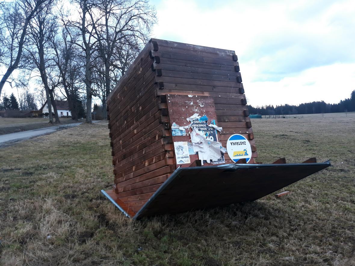 Následky bouře Sabina na Českokrumlovsku