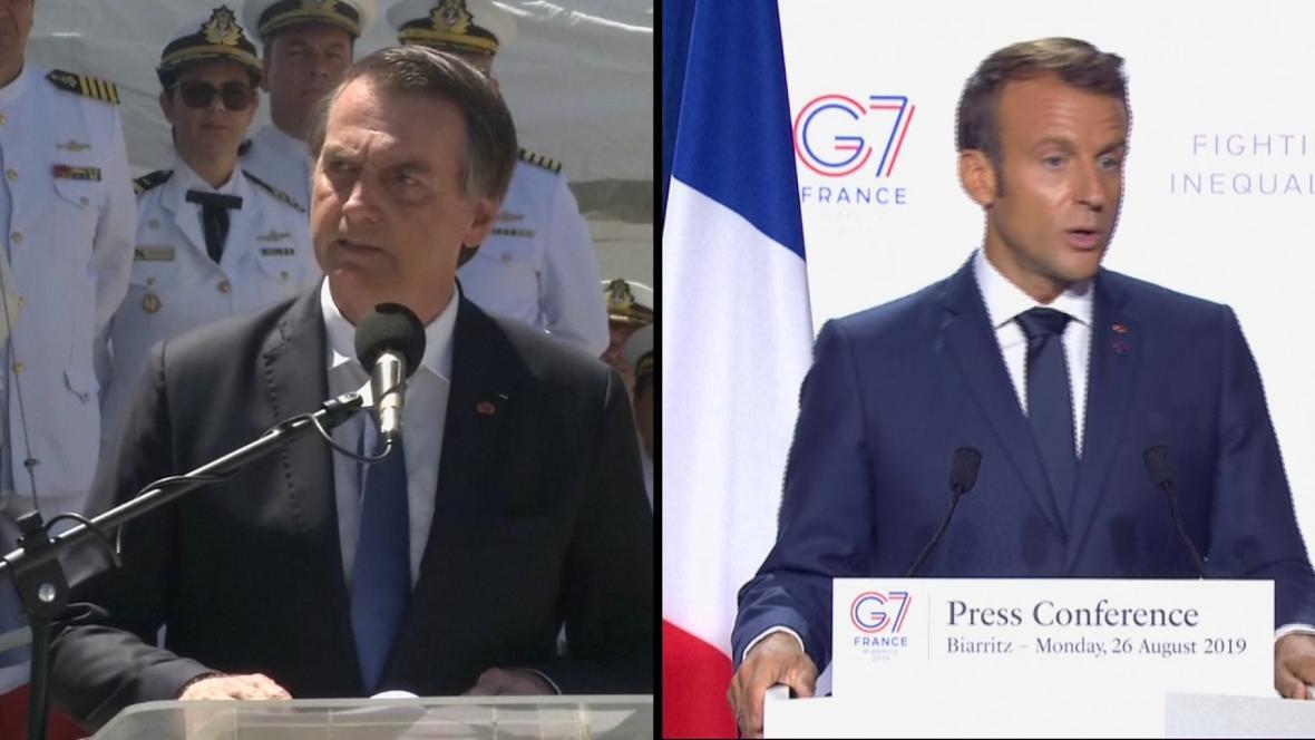 Prezidenti Jair Bolsonaro a Emmanuel Macron