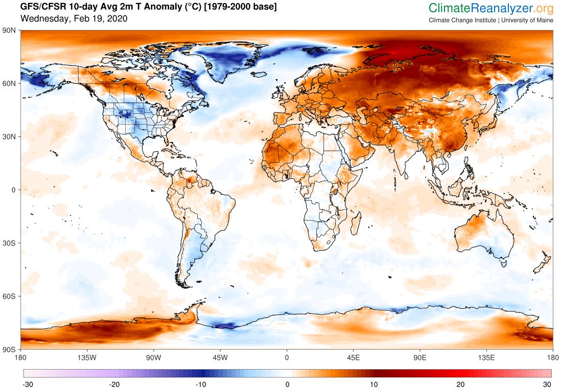 Odchylka teploty do průměru 1979-2000