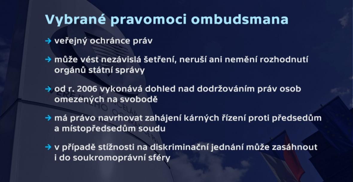 Vybrané pravomoci ombudsmana