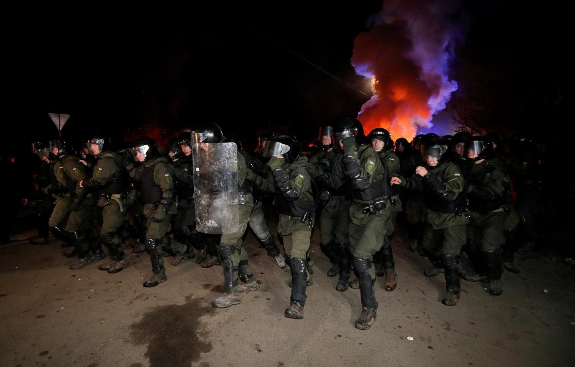 Zásah policie v ukrajinské obci