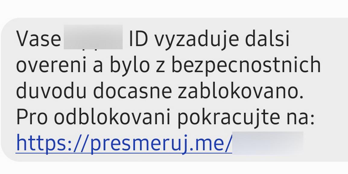 SMS, na kterou upozorňuje policie