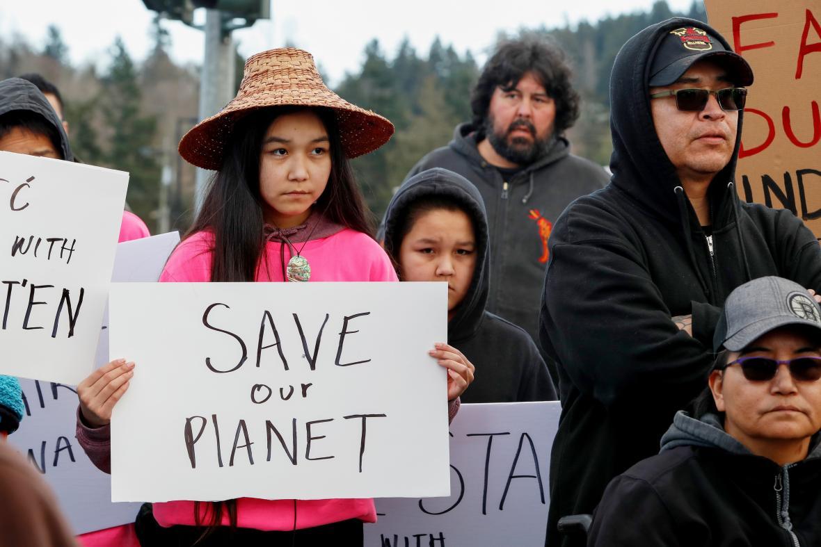 Protest domorodých obyvatel v Kanadě