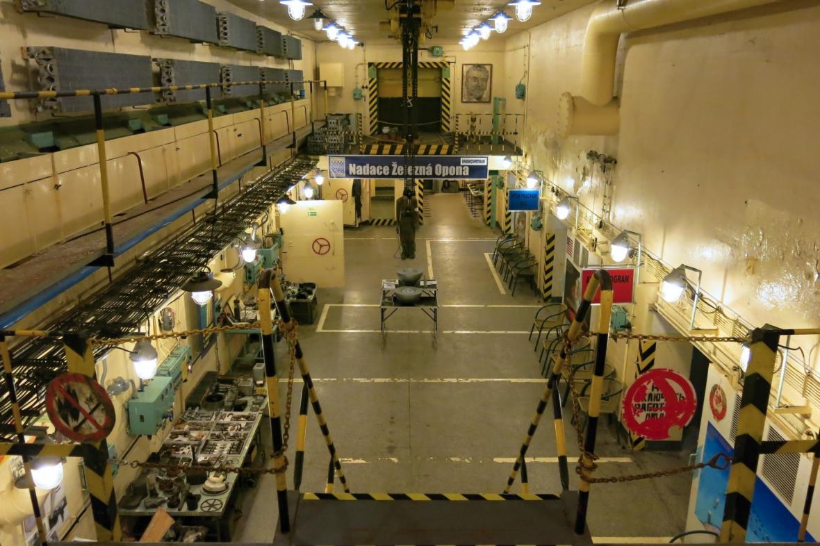 Bunkrová expozice brdského Atom muzea