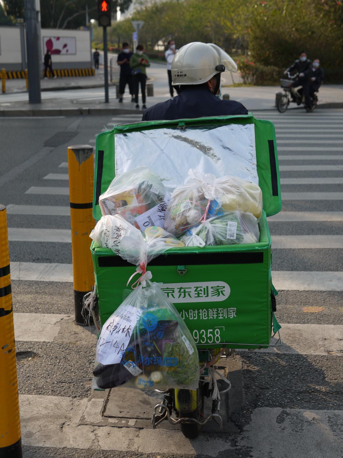 Dovážky jídla v Šen-čenu