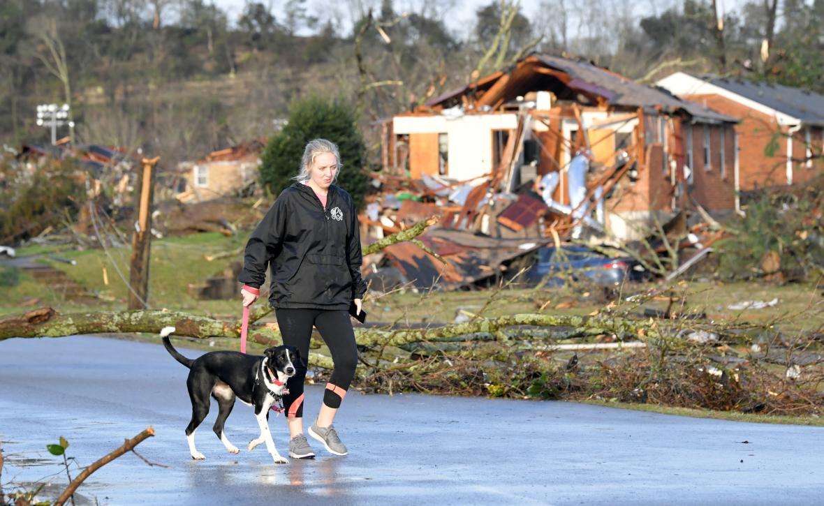 Zničený dům v Nashvillu