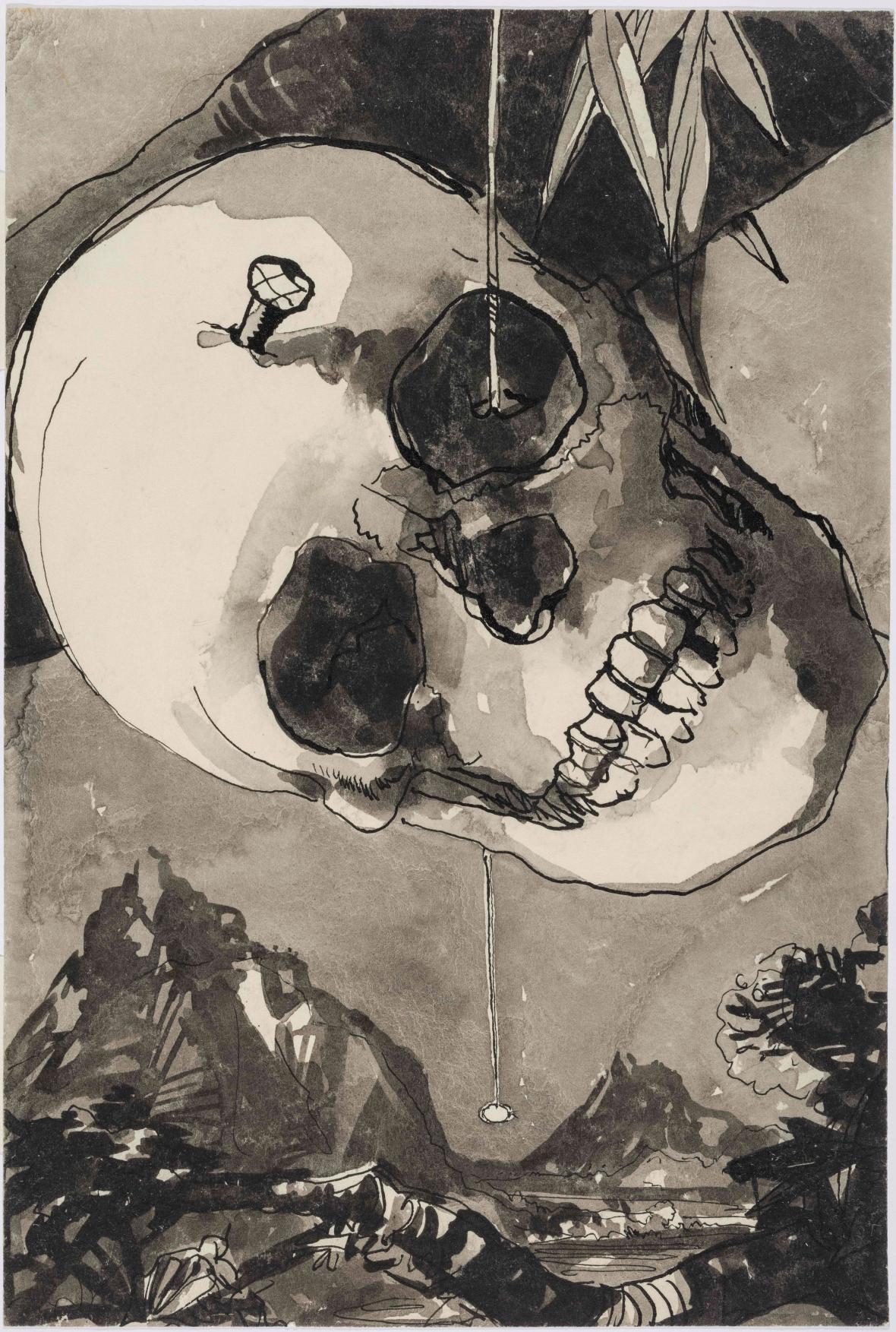 Karel Souček / Zlatý brouk, ilustrace ke knize E. A. Poea Zrádné srdce, 1959