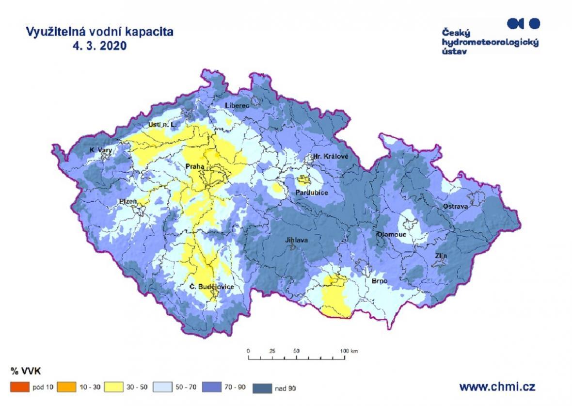 Využitelná vodní kapacita