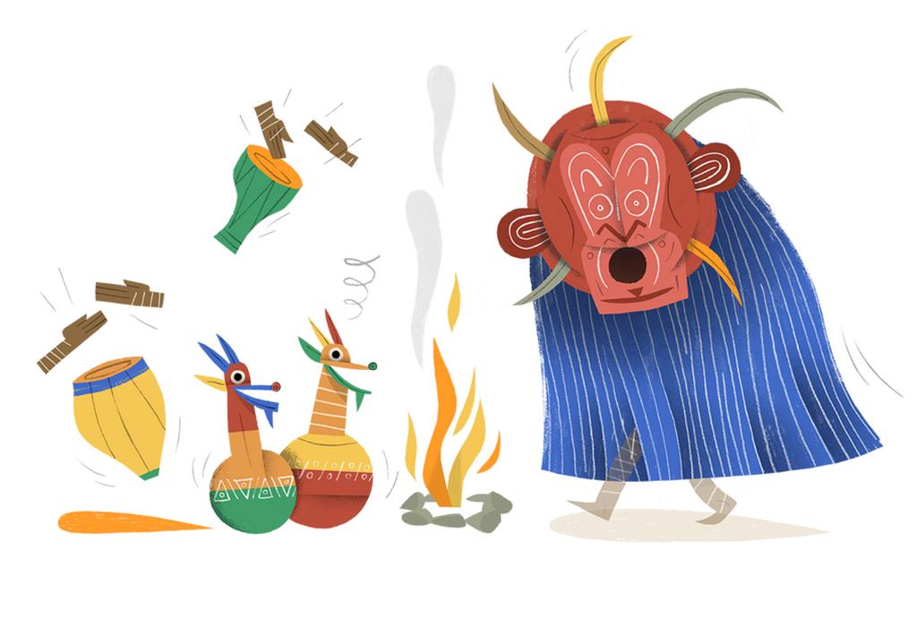 Patrik Antczak / ilustrace pro knihu Světový atlas strašidel a duchů